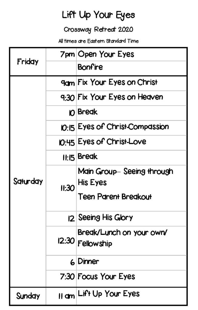 Crossway Retreat Schedule